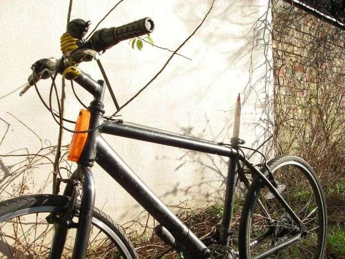 Креативна захист від викрадення велосипеда (9 фото)