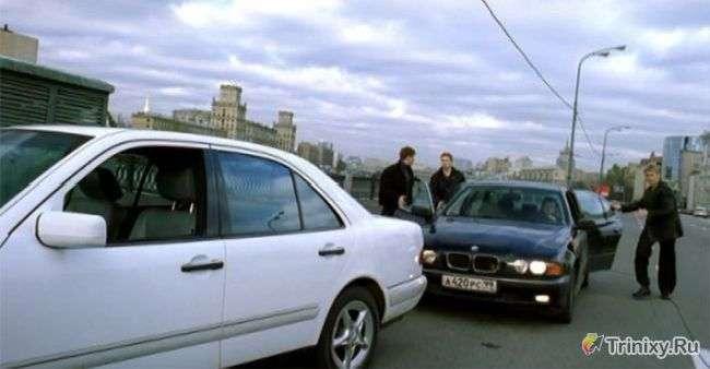 На яких автомобілях їздили злочинці у фільмі Бумер (14 фото)
