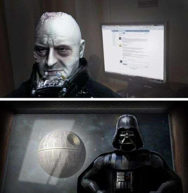 Дарта Вейдера не хочуть реєструвати в соціальній мережі (6 фото)