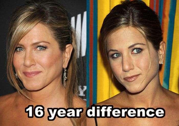 Знамениті люди, які не змінюються з роками (14 фото)