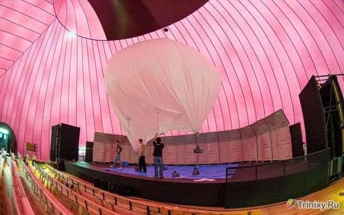 Перший в світі надувному концертний зал (9 фото)