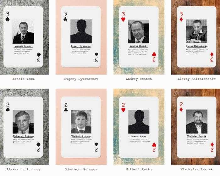 Американці випустили гральні карти Російська мафія (6 фото)