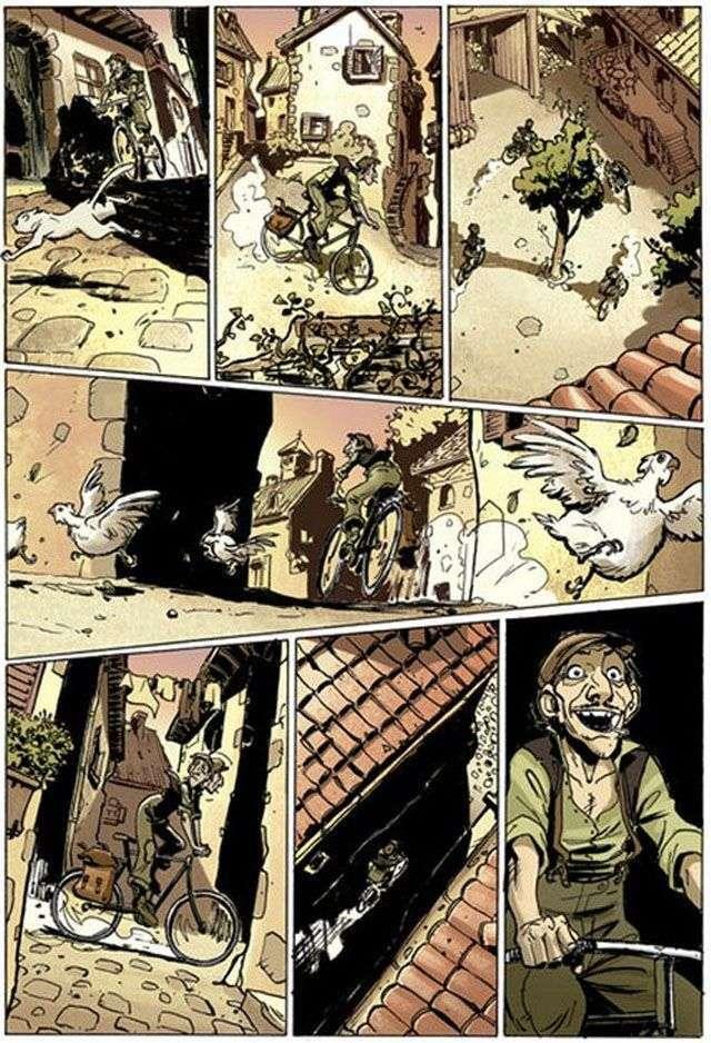 Філософський комікс про велосипедиста (10 картинок)