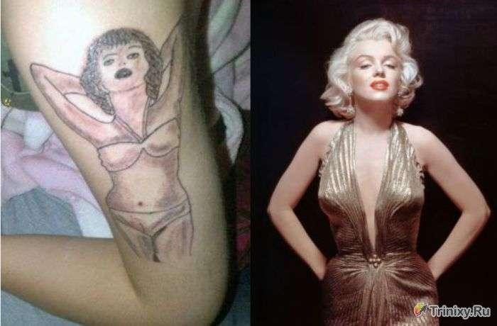 Татуювання Мерилін Монро на плечі (5 фото)