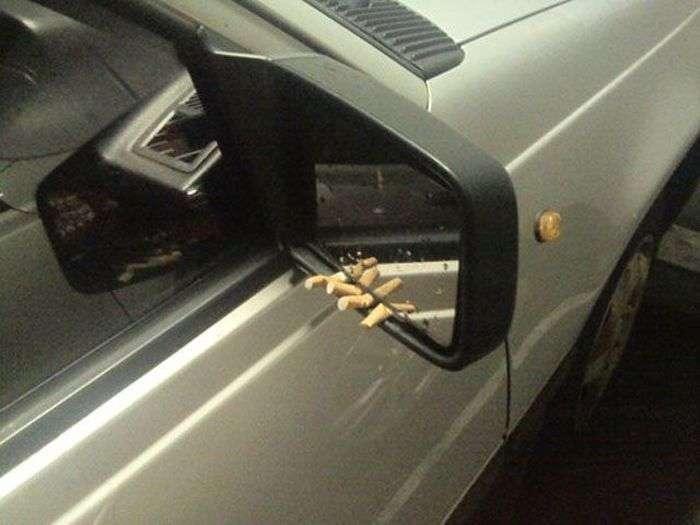 Автомобілі в забавних і дивних ситуаціях (44 фото)