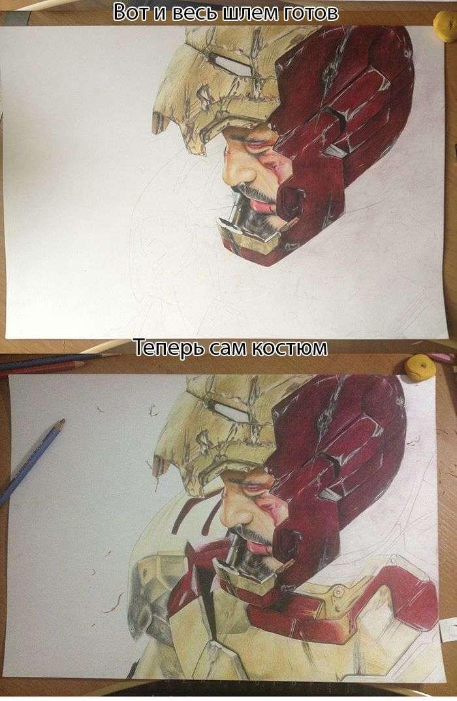 Дивовижний малюнок Залізної людини (11 фото)