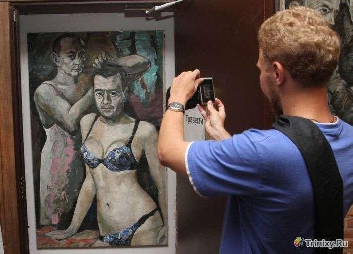 Поліція закрила музей з-за картини Путіна і Медведєва (3 фото)