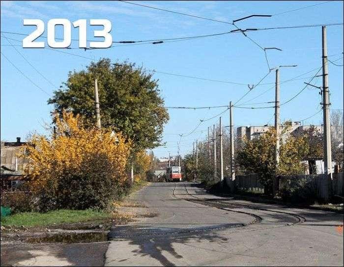 Непарний український трамвай (3 фото)