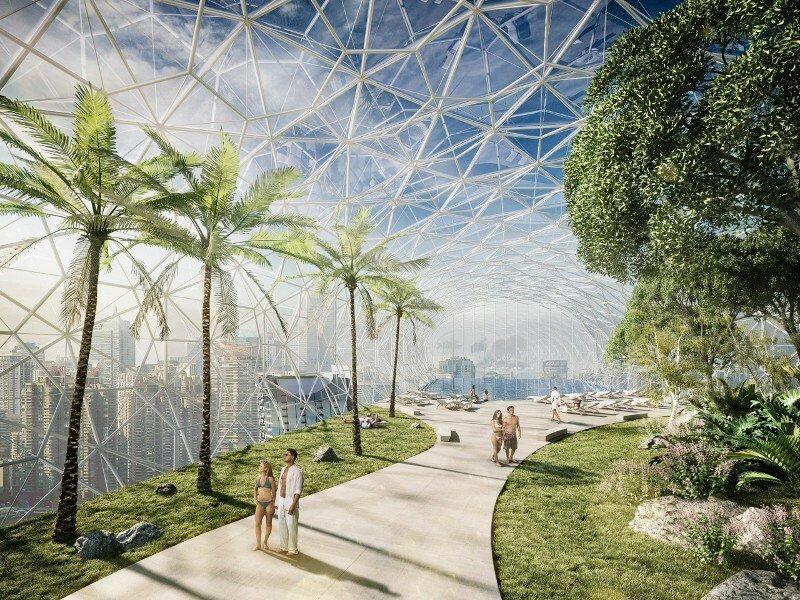 В Китае строят уникальный «небесный коридор», соединяющий небоскребы архитектура